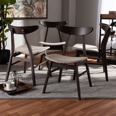 4 Dining Chairs, Mid Century Dining Chairs, Solid Wood Dining Chairs, Upholstered Dining Chairs, Side Chairs, Dining Table, Dining Room, Chair Upholstery, Furniture Chairs