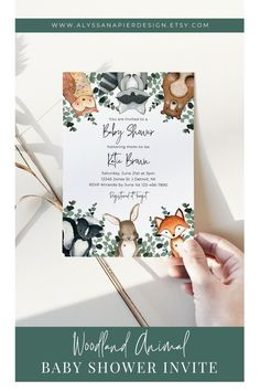 Planning a boy baby shower with a woodland animal theme? This adorable watercolor baby shower invitation is customizable, printable, and your guests will love it! Printable Baby Shower Invitations, Baby Shower Printables, Boy Baby Shower Themes, Baby Boy Shower, Sunflower Wedding Invitations, Electronic Invitations, As You Like, Shower Ideas, Woodland