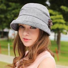 Spring summer flower bucket hat for women cotton crimping UV sun hats Sun Hats For Women, Caps For Women, Spring Hats, Spring Summer, 2017 Summer, Cotton Beanie, Polaroid Pictures, Dress Hats, Clothes For Women
