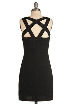 modcloth. crisscross examination dress.