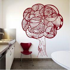 Arbol de vinil Tangle Patterns, Doodles Zentangles, Decoration, Photo Art, House Design, Creative, Wall, Pictures, House Ideas