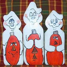 "Next stop: A Touch of Ozarks Wood Crafts Page Wooden Hinged ""Three Wise Ghost"""
