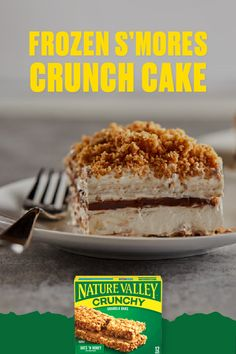 Check out this fun, easy recipe and take your Nature Valley crunchy bars to the next level. Frozen Desserts, Just Desserts, Delicious Desserts, Yummy Food, Baking Recipes, Cake Recipes, Drink Recipes, Yummy Treats, Sweet Treats