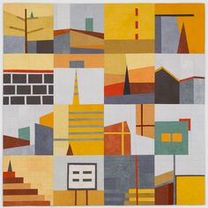 """Big Quilt #1"" (yellow), New work by Erin Wilson"