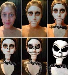 Jack the Skeleton Halloween makeup: Get into character with Ben Nye's Character wheel ($11.00), crcmakeup.com