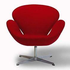 swan chair by arne jacobsen.