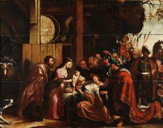 """WILLEM VAN HERP  """"Adoración  de los Reyes"""""""