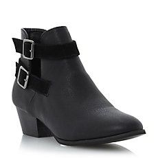 POPSICLE - Cut Out Buckle Detail Ankle Boot