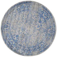 Safavieh Adirondack Grey/ Blue Rug (6' Round)