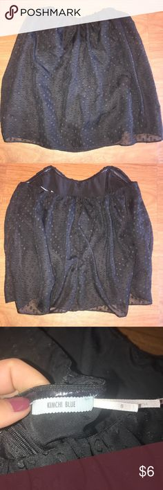 Urban Outfitters: Kimchi Blue dot tube top (Black) Worn once. Perfect condition. Zips up in there back. Size small Urban Outfitters Tops Tank Tops