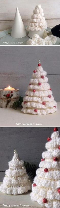 Crochet Christmas Trees.