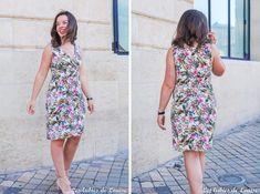 Patron de couture : la robe Alix de Coralie Bijasson. Il s'agit d'un modèle cache-cœur en jersey qui peut être décliné en top ou en robe, avec ou sans manches. C'est un modèle de niveau intermédiaire à coudre en jersey.#patrondecouture #patronfemme #patronrobe Blog Couture, Creation Couture, Corsage, Parfait, Couture Sewing, Summer Dresses, Diy, Fashion, Jersey Knit Dress