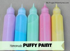 Easy homemade puffy paint- just 3 ingredients!