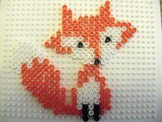 Gabulle in Wonderland: DIY : un joli renard en perles hama - I know this is beads, but convert to cross stitch. Melty Bead Patterns, Pearler Bead Patterns, Perler Patterns, Beading Patterns, Diy Broderie, Art Perle, Motifs Perler, Peler Beads, Diy Perler Beads