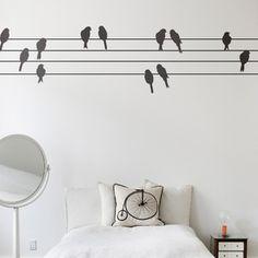 Powerbirds Wall Sticker, Stickers & Ferm Living Wall Decor | YLiving