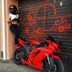 52 Ideas Motorcycle For Women Ninjas Motorbikes Motorbike Girl, Motorcycle Helmets, Motorcycle Quotes, Triumph Motorcycles, Cars And Motorcycles, Custom Motorcycles, Bobbers, 600 Honda, Yzf R125