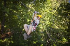 Zip-line or traverse high above the ground in Dorion. Adventure Awaits, Bradley Mountain, Golf Bags, The Great Outdoors, Ontario, Cool Photos, Places To Go, Tours, Zip