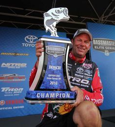 KVD wins Cayuga Lake with a 4 day total of 71lbs 13oz. -June 26,2016