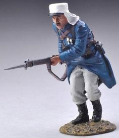 French Foreign Legion FFL044A Charging Legionnaire White Trousers - Made by Thomas Gunn Military Miniatures and Models. Factory made, hand assembled, painted and boxed in a padded decorative box. Excellent gift for the enthusiast.