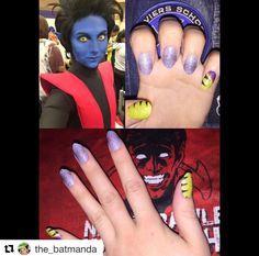 "New to the Nerd Makeup Ambassador fam, the_batmanda(IG), brings out the x-pride with the Espionage Cosmetics ""Adamantium"" (discontinued) nail wraps! What a BAMF! #EspionageCosmetics #NerdManicure #NailArt #Nailspiration #NerdNails #Xmen #Xpride #Nightcrawler #Wolverine"