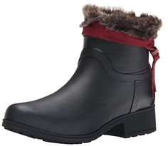 Lucky Womens Rebeka Rain Boot BlackRuby W 6 M US * This is an Amazon Affiliate link. Check this awesome product by going to the link at the image.