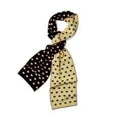Bleed #BlackAndGold? Get cozy this fall with this Merino Wool Polkadot Scarf, just in!