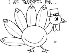 (2) Versions - With or without lines for writing. With these Thanksgiving printable worksheets, your students can write down (5) things they are thankful for. Students write down each thing in each of the tail feathers. As an option, they can color-in the happy turkey.