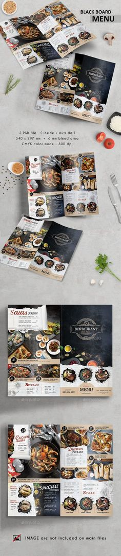 Black Board Menu — Photoshop PSD #food menu #food • Available here ➝ https://graphicriver.net/item/black-board-menu/20967592?ref=pxcr