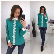 Блуза с белым кружевом, цвет зеленый 6472 https://privately.ru/bluzy/bluza-s-belym-kruzhevom-cvet-zelenyy-6472/  Цена: Р1200.00