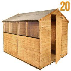 BillyOh Classic 20 Popular Rustic Economy Overlap Apex Garden Shed - Garden Sheds - Garden Buildings Direct