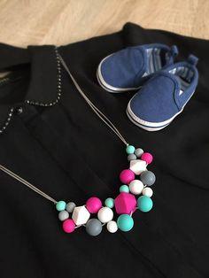 bebelino / Silikónový dojčiaci náhrdelník ELEGANT MOMMY