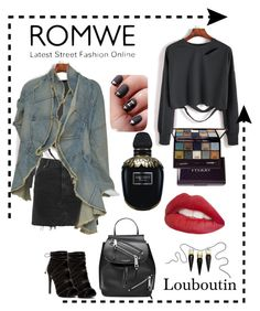 """""""Romwe kit"""" by jaja8x8 on Polyvore featuring mode, Topshop, Marc Jacobs, Alexander McQueen, By Terry, Jouer, Christian Louboutin, makeup, jeans et Coton"""