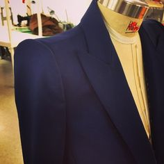 In Process at the #tailoring station in the #ZacPosen #Atelier #classic #suiting. #handmade #craft #process #resort2016 coming soon. #madeinnyc @cfda