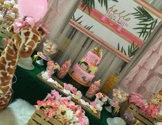 """Safari theme baby shower / Baby Shower """"Hello baby Epps """" 