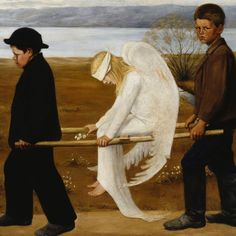 """""""The Wanted Angel"""" by Hugo Simberg / 1903 Old Paintings, Classical Art, Detail Art, Angel Art, Old Art, Children's Book Illustration, Religious Art, Art Day, Finland"""