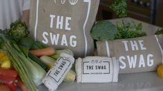 The Swag Produce Storage -   Are you sick of throwing out wasted fruit & veg? This unique three-layer fresh produce storage bag keeps fruit and vegetables fresher for longer.  Breathable, non toxic and machine-washable to help you save waste and money.  Each layer of the Swag plays a significant role in keeping produce fresher for longer, allowing them to breathe and hydrate at their own pace.  Set of 4 bags.