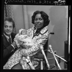 Congress Gov Doc: Yvonne Brathwaite Burke Representative Yvonne Brathwaite Burke leaves Queen of Angels hospital with her 6-day-old daughter Autumn Roxann. Yvonne was the first member of Congress to give birth while in office. via coolchicksfromhistory
