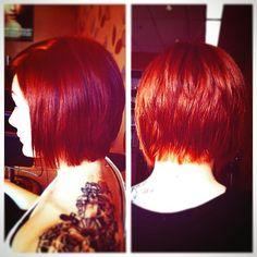 short bob red hair