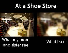 Change this to ANY store.... What my sister sees....... What my mom and I see...........