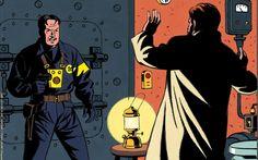 Le Secret de l'Espadon ~ Détail de la couverture du Journal de Tintin du 17 février 1949