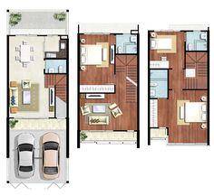 Floor Plan แบบบ้าน โครงการทาวน์เฮาส์ ทาวน์พลัสเอ็กซ์ ประชาชื่น เฟส 2 : X5.5