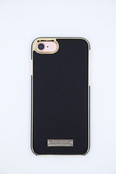 Protect your device against damage in style by using this precious gold plated iPhone 7 case. - Black in color - Fits an iPhone 7 - Gold plated edges and logo
