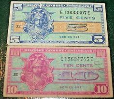 Military Payment Certificate Series 641 25 Cents Vietnam Era Uncirculated