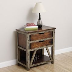 @Overstock.com - Sam's Shack Nightstand (Indonesia) - This beautiful end table features a rustic, artisanal look for a unique accent to any decor. This table was handcrafted by artisans in Indonesia.  http://www.overstock.com/Worldstock-Fair-Trade/Sams-Shack-Nightstand-Indonesia/7154096/product.html?CID=214117 $264.99