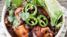 Sweet Potato + Black-Bean Turkey Chili - barre3