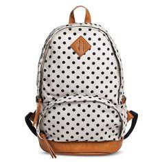 Women's Polka Dot Print Backpack Handbag - Gray
