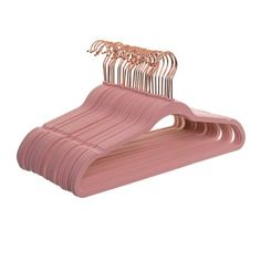 Better Homes & Gardens Nonslip Ultra Slim Hangers, 30 Pack, Pink Rose Gold Room Decor, Rose Gold Rooms, Rose Gold Bedroom Accessories, Gold Bedroom Decor, Girl Bedroom Designs, Room Ideas Bedroom, Cute Room Decor, Aesthetic Room Decor, Pink Room
