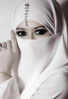 White Half Niqab Nikab Veil Burqa Hijab Face Cover Islamic Muslim Bride Wedding | eBay