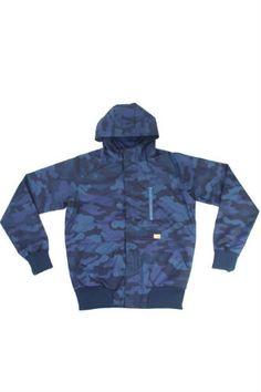 Humor Concubine Blue Camo Jacket | Cult Edge