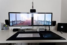 "my workstation (iMac 27"" + 24"" Cinema Display Part 2 by jortizphotography, via Flickr"